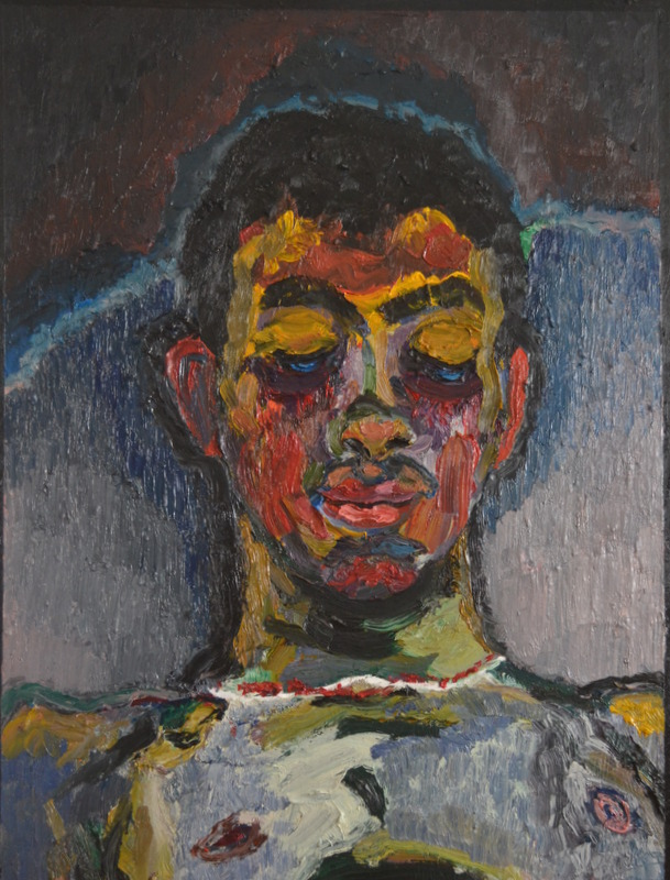 """Garçon bleu""/Oil on canvas/90cm/70cm"