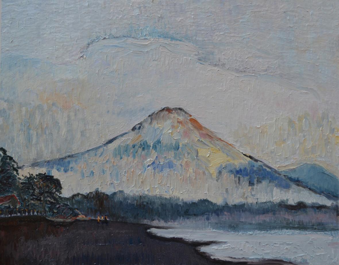 """Mont Agung Bali""/Oil on canvas/70X90 cm"