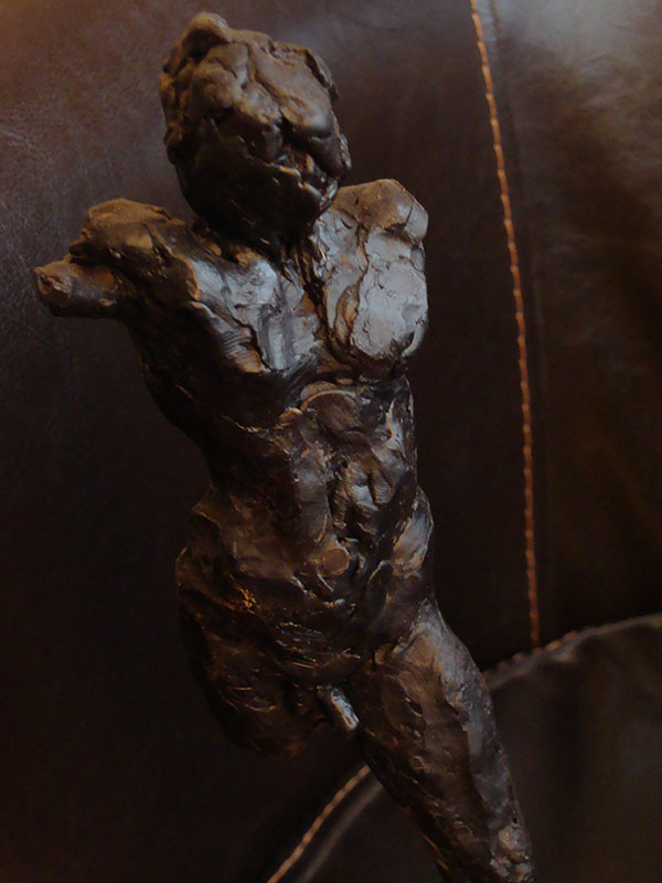 Male nude. black wax. H 15 cm