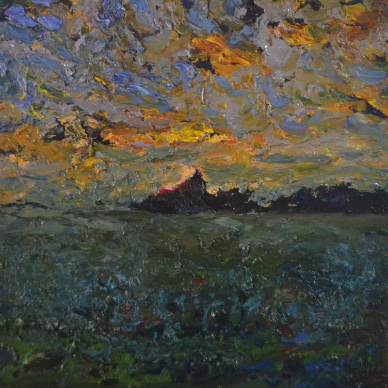 """""""Soirée""""/Oil on canvas/80cmX80cm"""