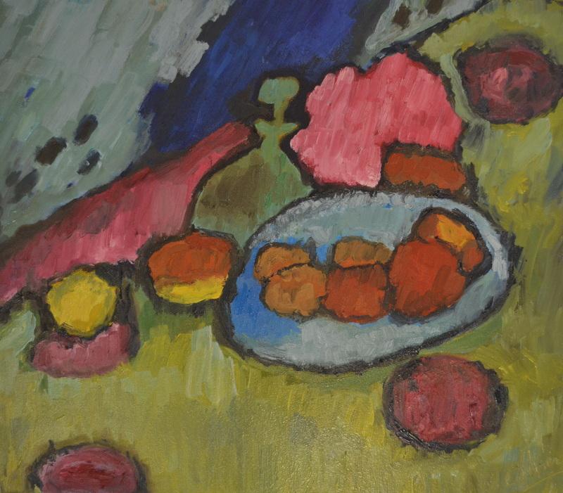 """""""Still life"""" d'après Jawlensky/Oil on canvas/74 cmX64cm"""