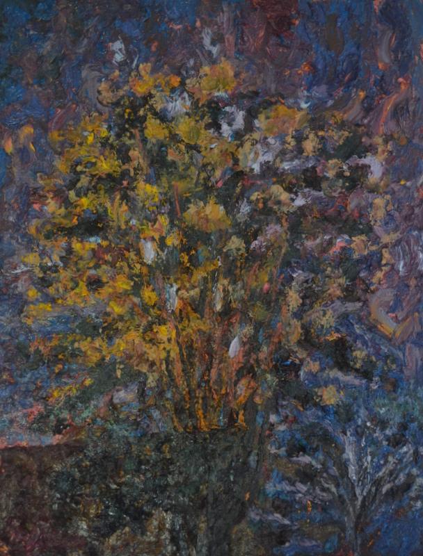 """""""Evening blossom""""/oil on canvas/90cmX73cm"""