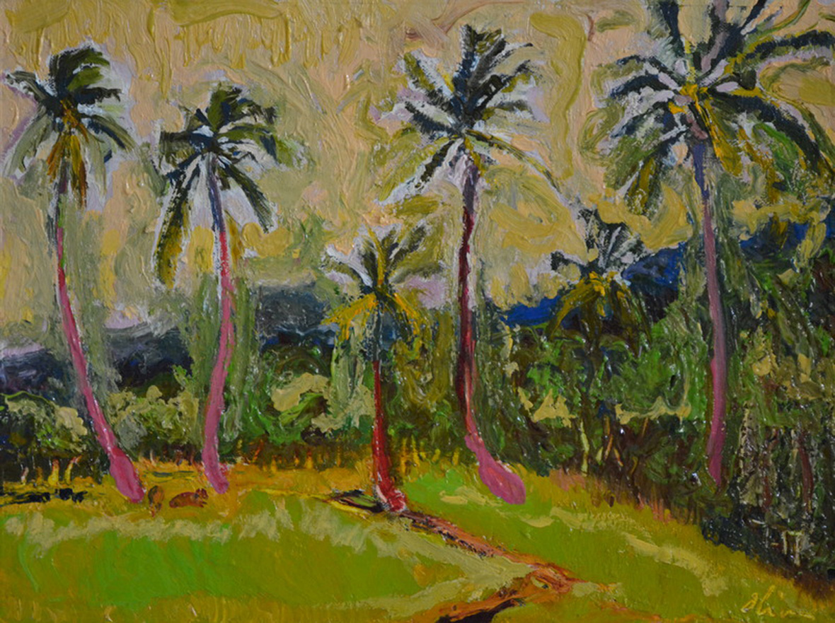 """A field in Bali""/Oil on canvas/30X40 cm"