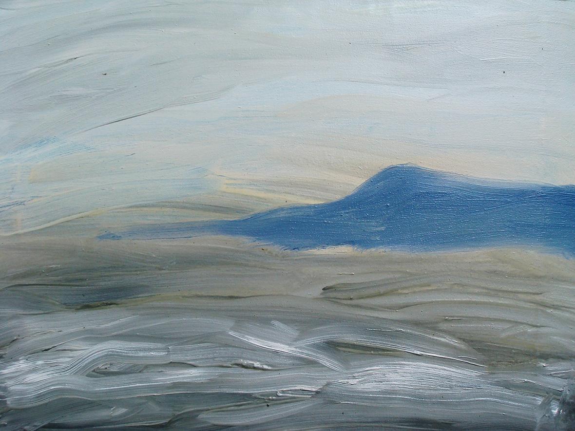 """""""Lever du jour sur le Bokor""""/Oil on canvas/30X40 cm"""