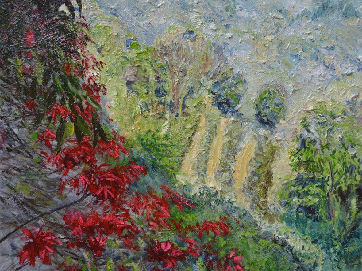 """La vallée heureuse""/Oil on canvas/70X90 cm"