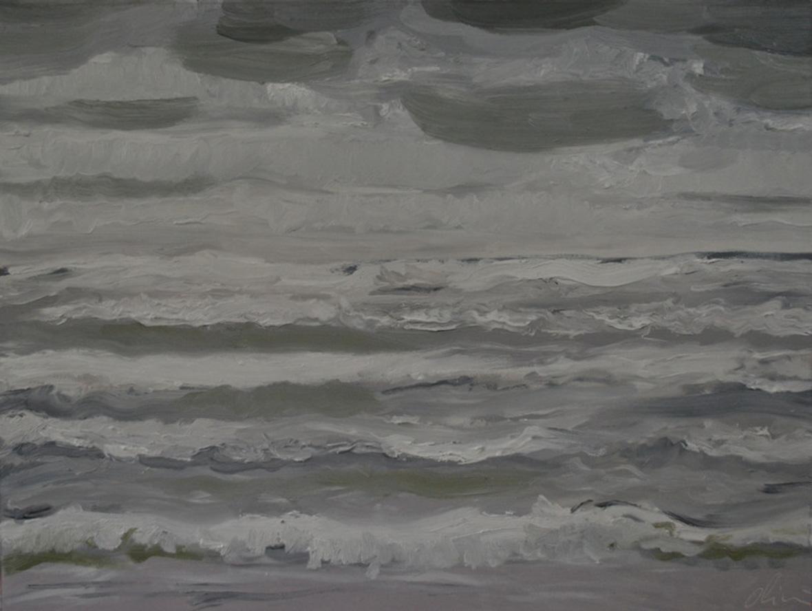 """""""Rouleaux gris""""/Oil on canvas/80X90 cm"""