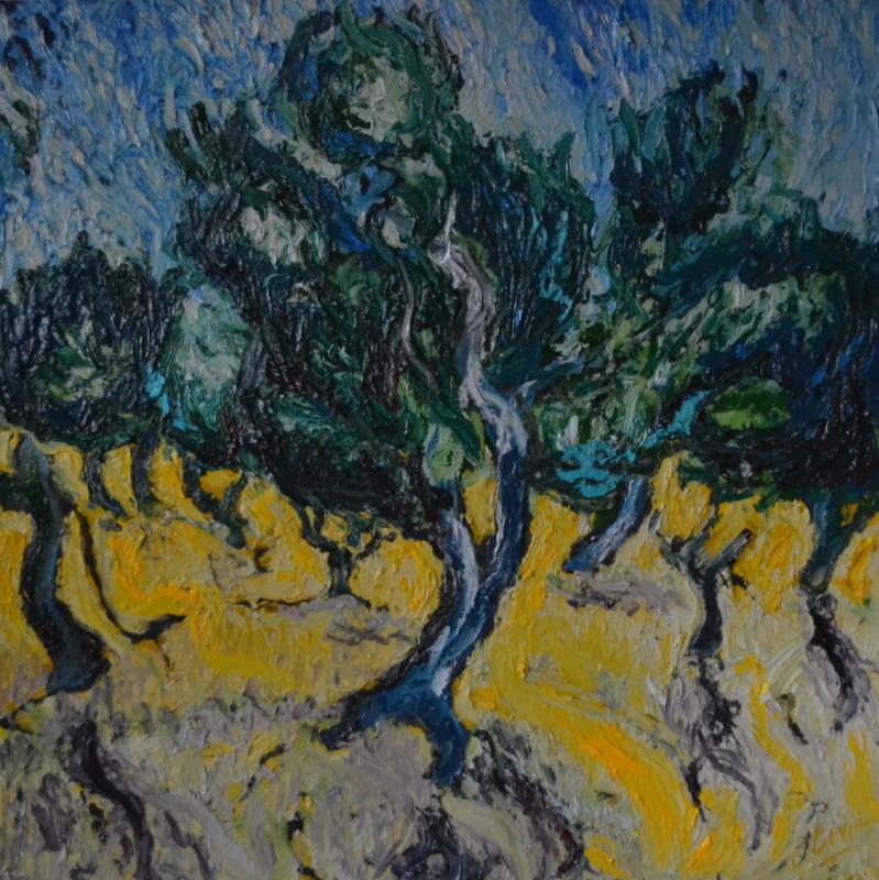 """""""Oliviers""""/Oil on canvas/1mX1 m"""