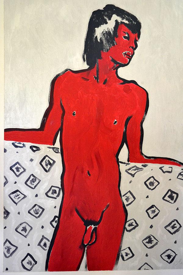 """""""Red boy"""" d'après Van Dongen/Oil on canvas/"""