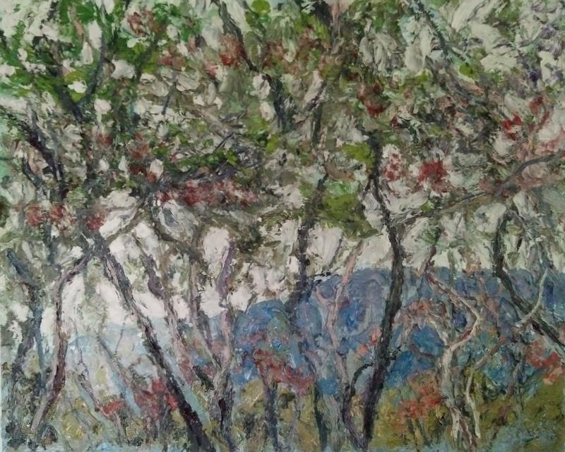 """""""Route de Samoeng 4""""/oil on canvas/90cmX70cm"""