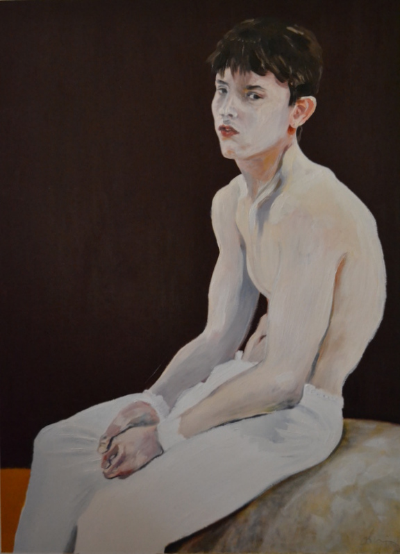 """White boy""/Oil on canvas/90X120 cm"