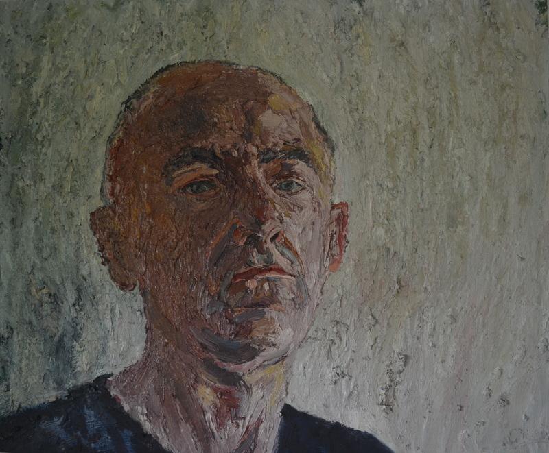 """""""Self-portrait""""/Oil on canvas/1mX1,20m"""