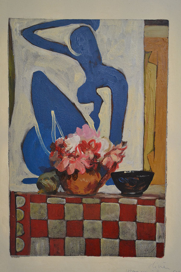 """Nature morte avec Matisse, d'après Duncan Grant""/Oil on canvas/50X80 cm"