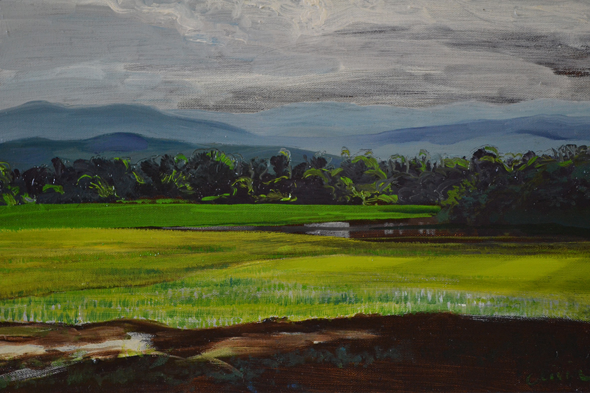 """Flood at MaeTaeng""/Oil on canvas/30X40cm."