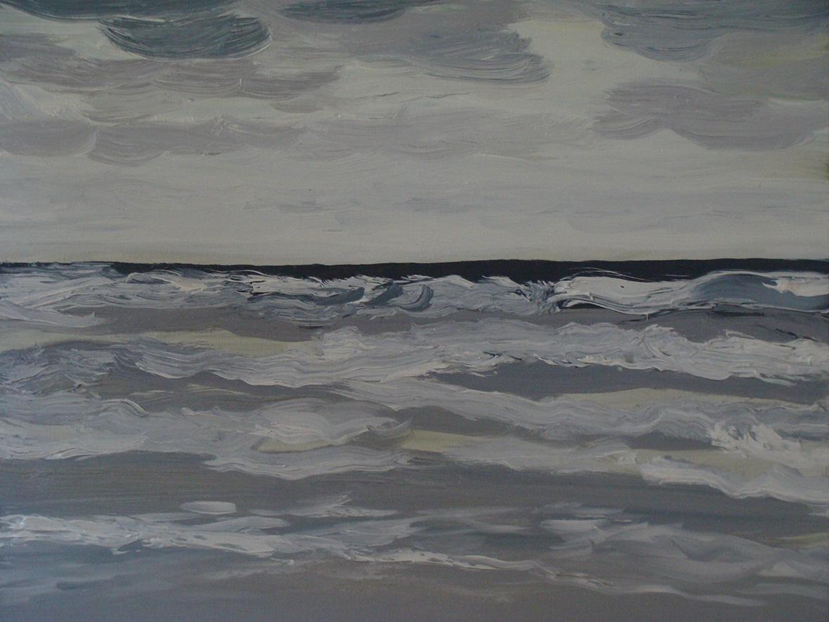 """""""Rouleaux""""/Oil on canvas/40X50 cm"""