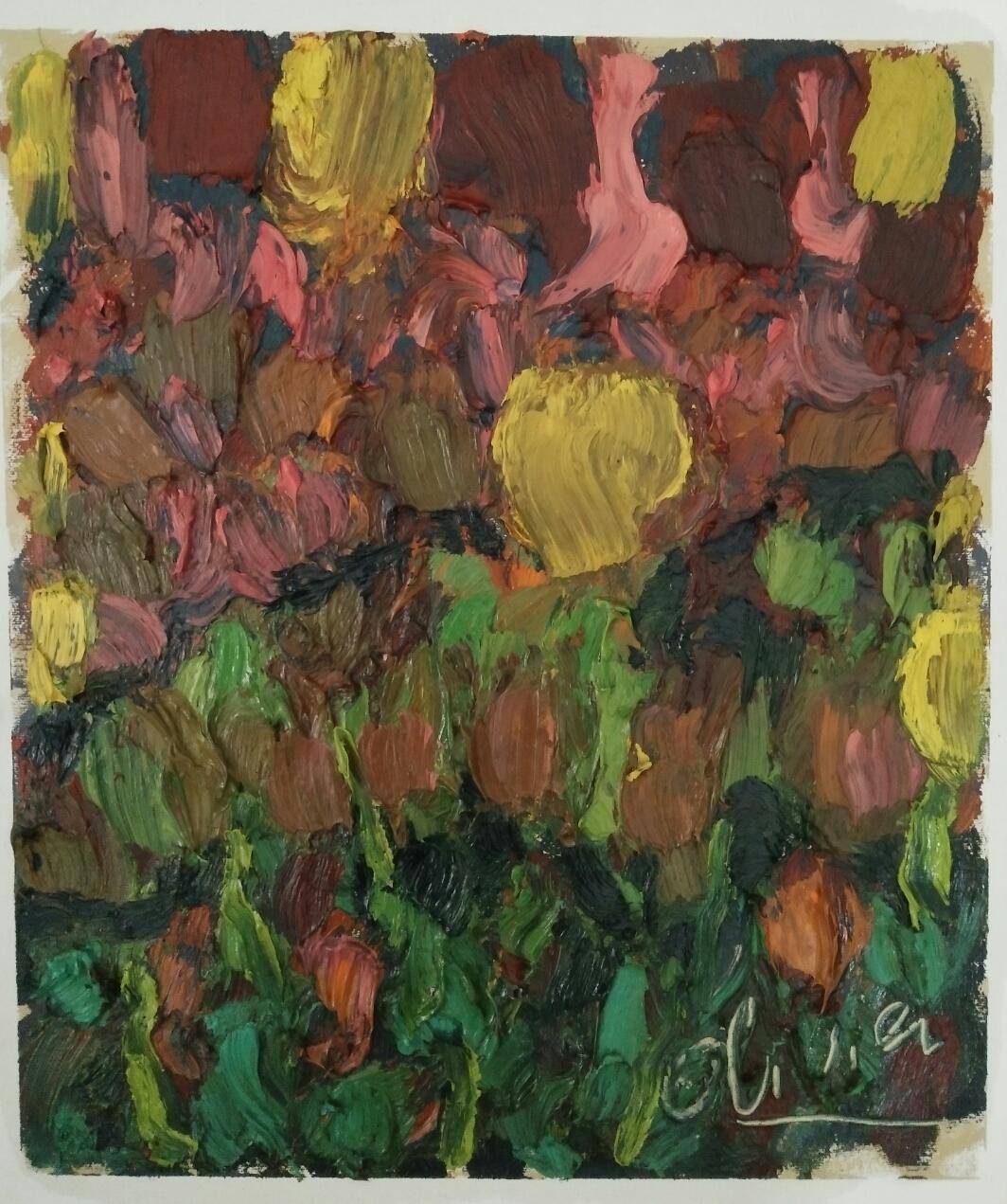 """""""Série 11 """"/ Oil on canvas/ 50 cmX 42 cm"""
