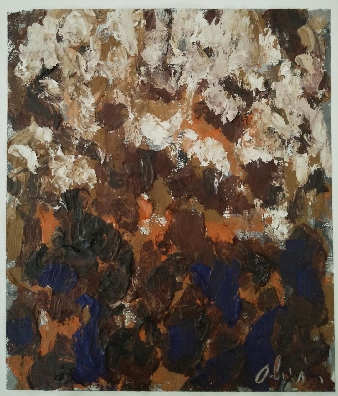 """""""Série 4""""/Oil on canvas/50cmX42cm"""