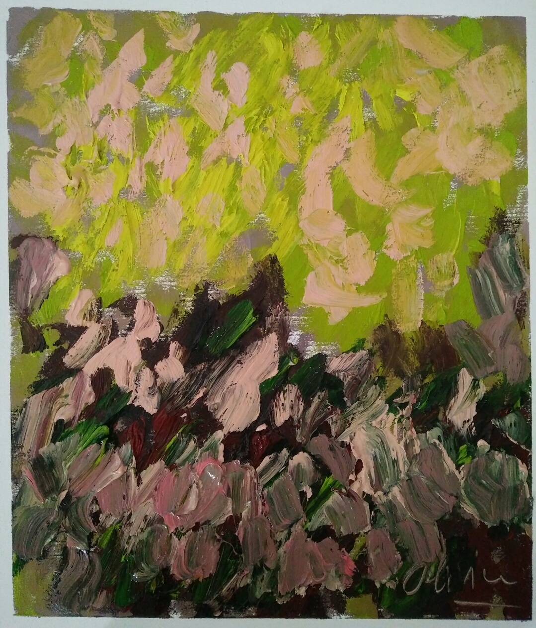 """""""Série 7 """"/oil on canvas/ 50 cm 42 cm"""