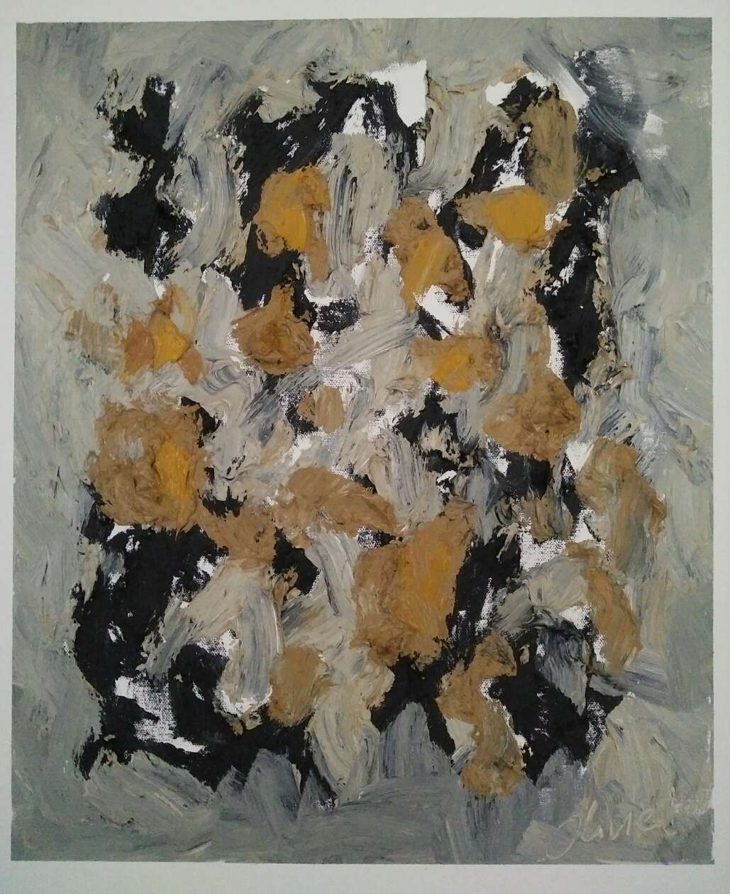 """Abstraction 5""/Oil on canvas/ 50cmX40cm"