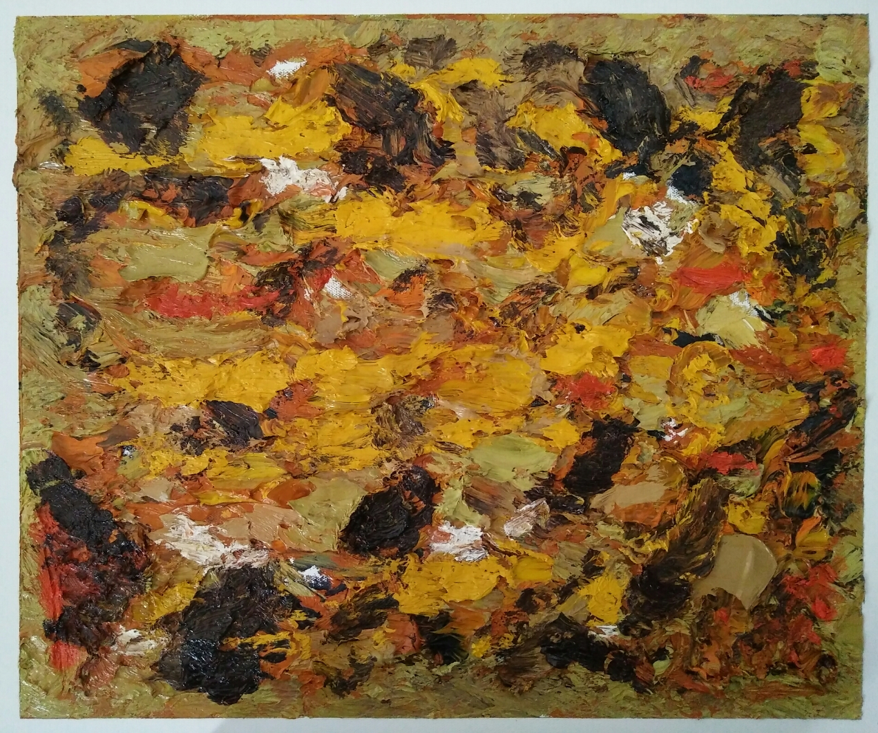 """"""" Abstraction 6""""/Oil on canvas/ 50cmX40cm"""