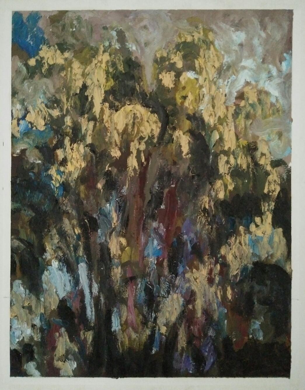 """""""Arbres - Ga Salong""""/Oil on canvas/ 75cmX60cm"""
