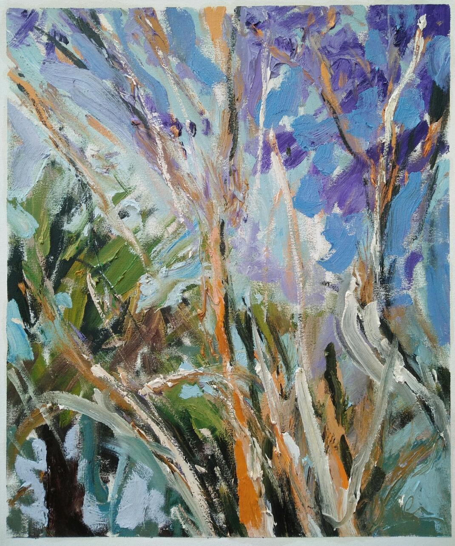 """Arbres clairs""/ Oil on canvas/ 52 cm X 64 cm"