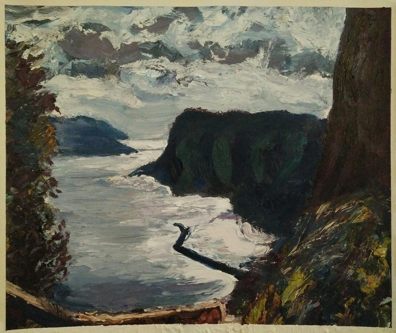 """"""" Capri""""/ Oil on canvas/ 43cm X 57 cm"""