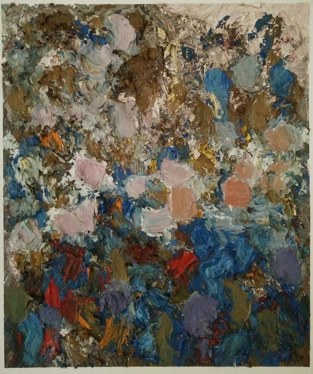 """Evening light""/ Oil on canvas/ 63 cm X 52 cm"