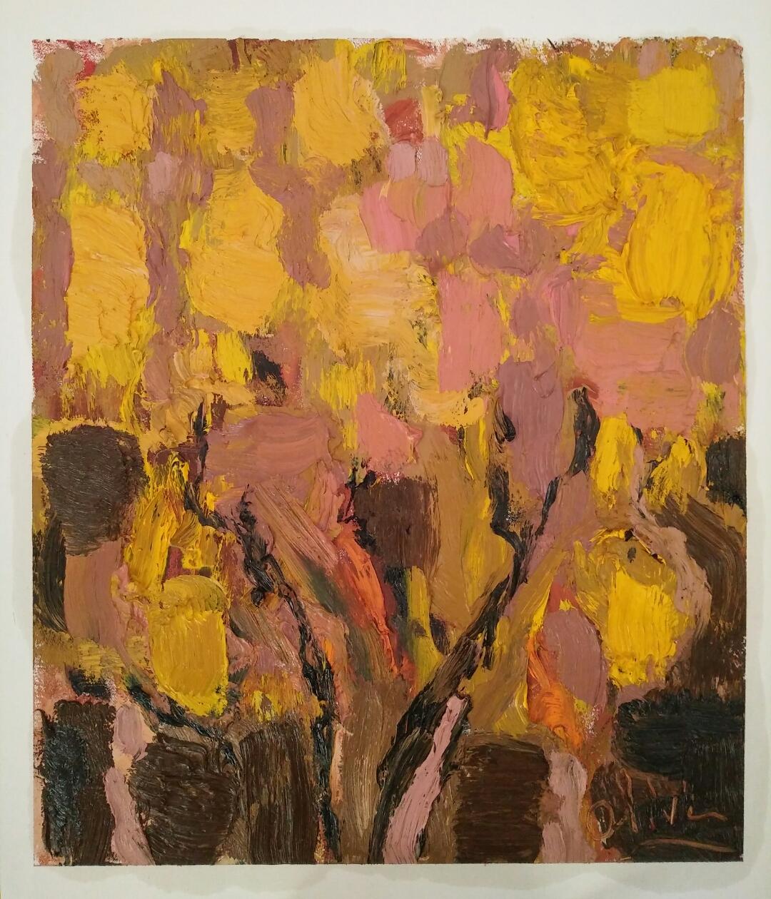 """Golden tree""/Oil on canvas/ 60cmX 50 cm"