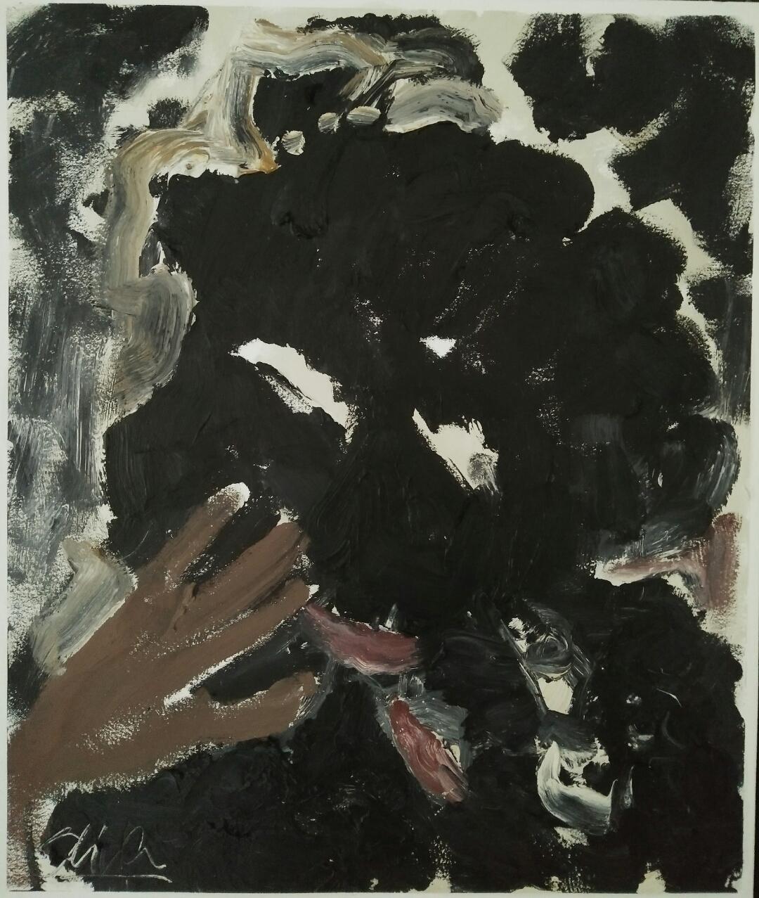 """""""Homoncules""""/ Oil on canvas/ 64 cm X 52 cm"""