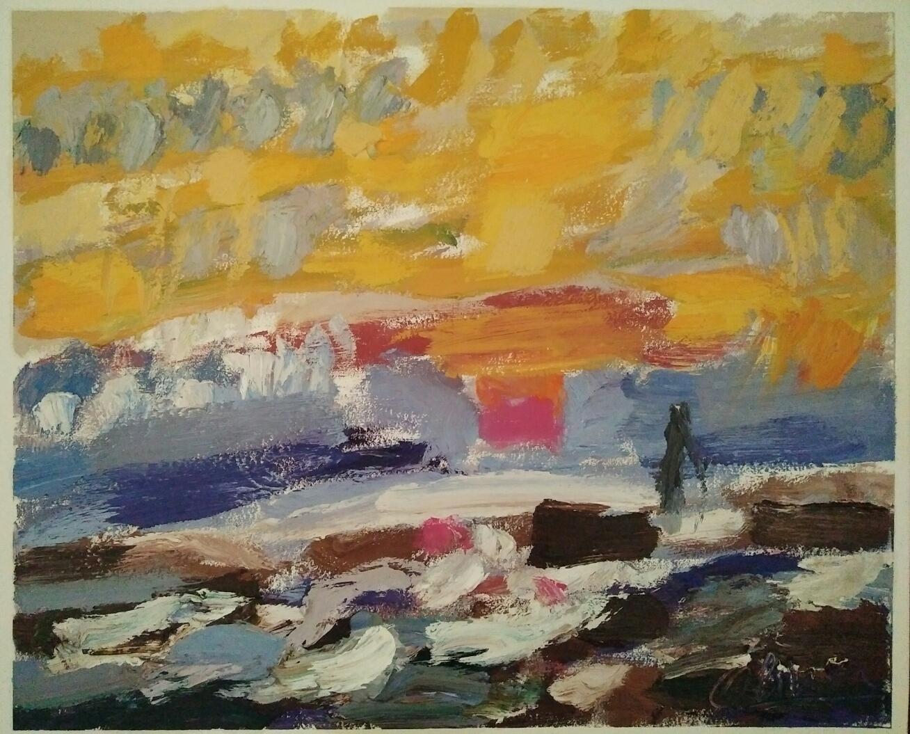 """""""Jetée""""/Oil on canvas/63cmX52cm"""