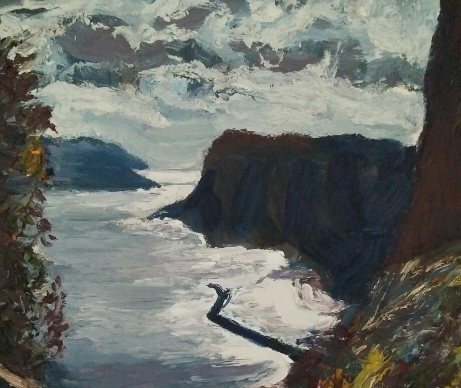 """"""" Souvenir d'Italie""""/ Oil on canvas/ 43cm X 57 cm"""