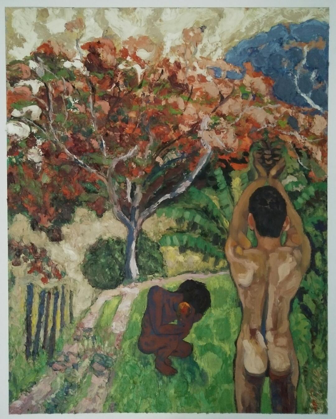 """Paradise lost""/oil on canvas/ 95cm/80 cm"