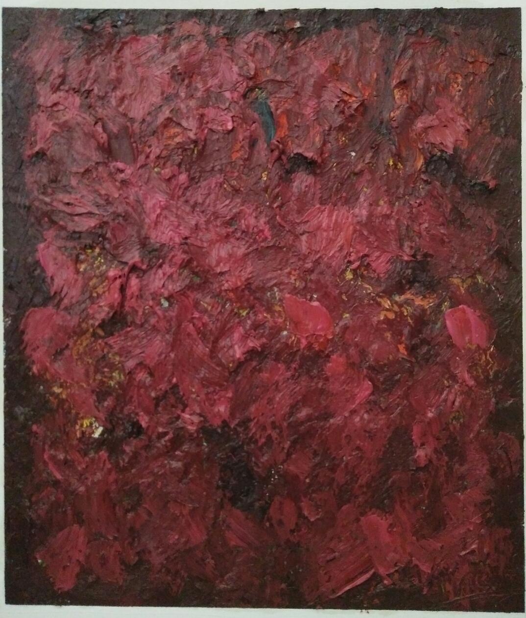 """""""Quatre couleurs 3""""/ Oil on canvas/ 52 cm X 42 cm"""