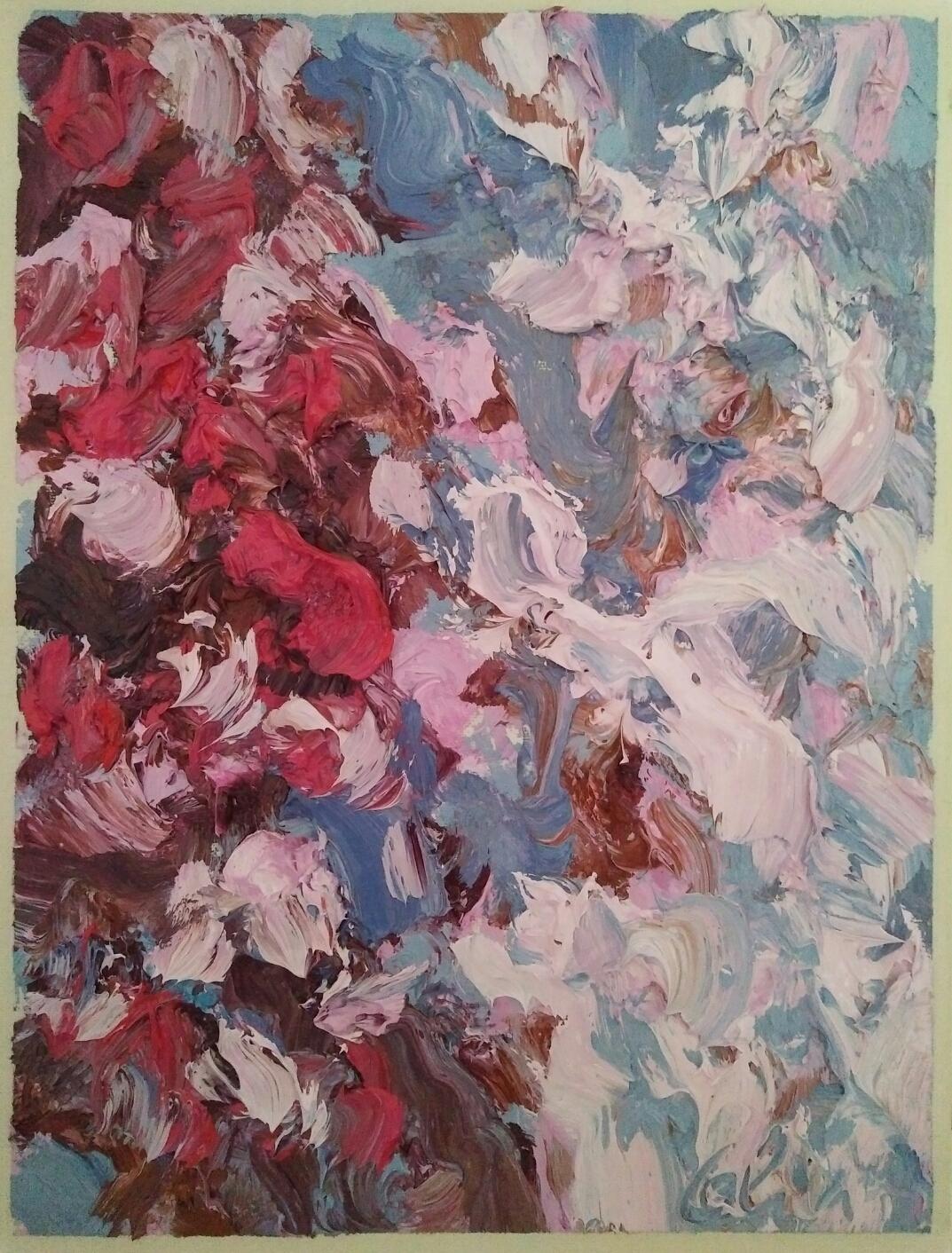 """""""Série Bougainvillers""""/ Oil on canvas/ 41 cm X 30 cm"""