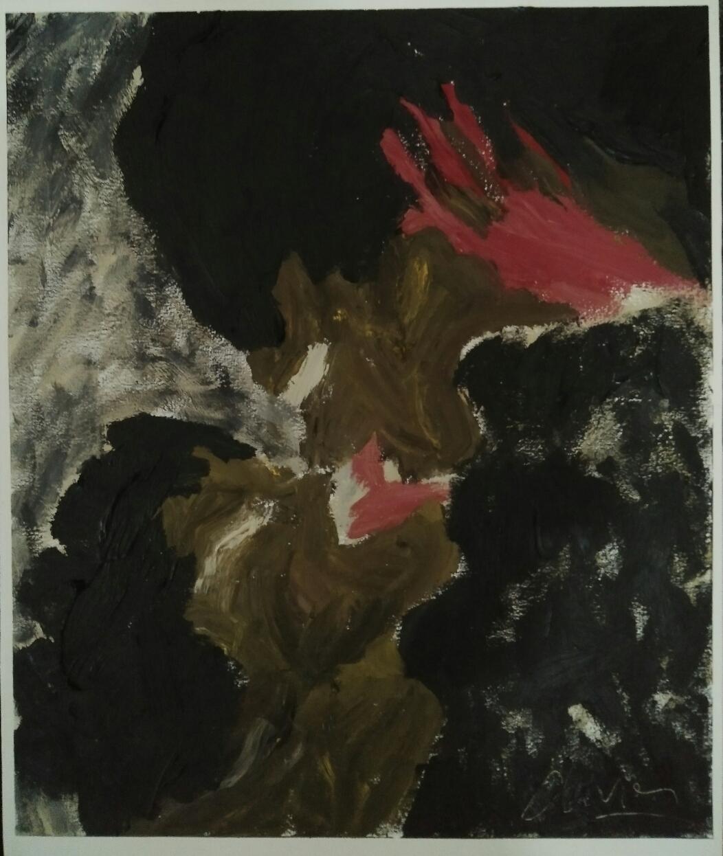 """""""Série noire""""/ Oil on canvas/ 64 cmX 52 cm"""