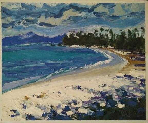 Chandidasa. Oil on canvas 51 cm x 42 cm