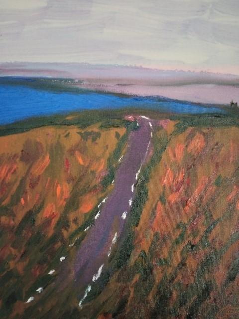 Petite route mauve. Oil on canvas 41 cm x 31 cm