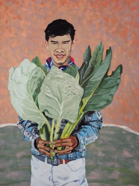 Grand portrait de Noï. Oil on canvas 107cm x 87 cm