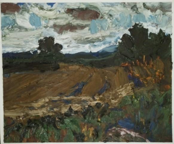 Paysage du Perche. Oil on canvas 51 cm x 42 cm