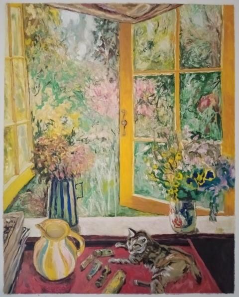 Lulu à la fenêtre. Oil on canvas. 110 x 88 cm