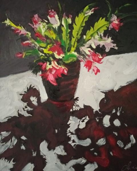 Contrejour. Oil on canvas 51 cm x 42 cm
