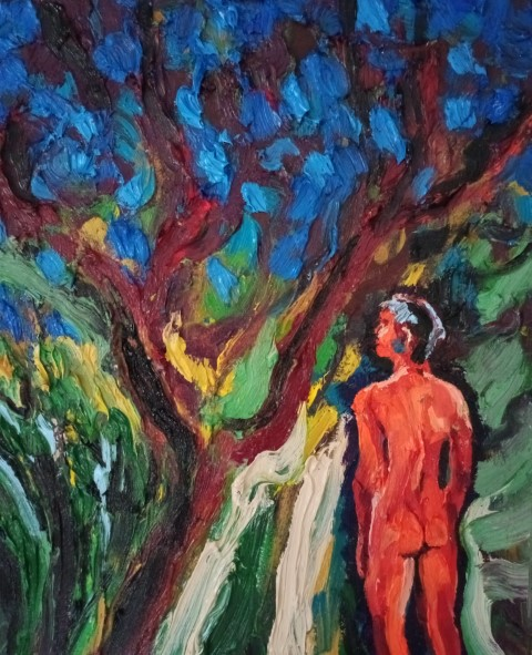Route de nuit. Oil on canvas 51 cm x 42 cm